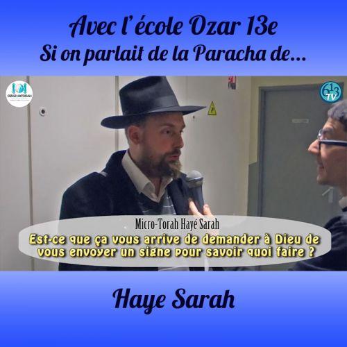 L'ECOLE D'OZAR ET Haye Sarah